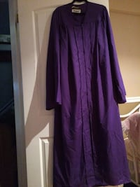 Purple long sleeve graduation gown Prince Edward, K8N