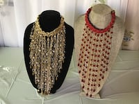 women's red and white beaded necklace Las Vegas, 89130