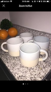 Handmade Coffee Cup Set Of 4 Greenville, 29601