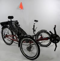 New ERT-36 folding electric recumbent tricycle on sale at www.mobility4less.com Miami