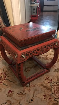 square red wooden side table