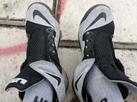 pair of black-and-gray Nike basketball shoes San Antonio, 78209