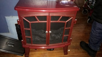 Burgundy fire place new