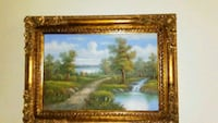36x47 frame painting of flowing river North Port, 34287