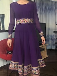 women's purple and gold long sleeve dress Calgary, T3J 3S5