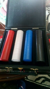 Poker chips and case Stockton, 95205