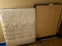 Queen mattress set and frame, great condition Brentwood, 37027