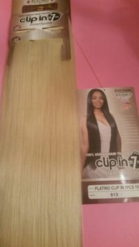 Blonde #613, Clip-ins Hair extensions