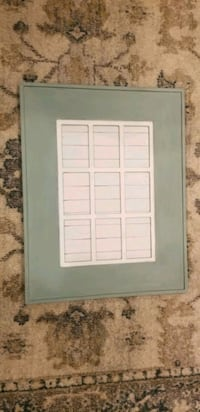 Duck egg blue farmhouse picture frame