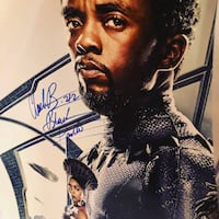 Black Panther Movie Poster signed by entire cast including Director Mc Lean, 22102