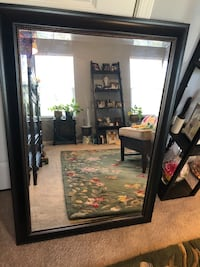 Large wall mirror.