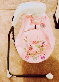 Cute Fisher Price Pink Baby Swing Great Condition
