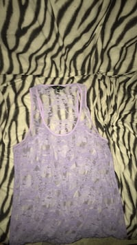 purple and white floral tank top Surrey, V3W 4S9