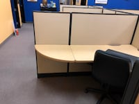 6 office cubicles, file cabinets, and office chairs LASVEGAS