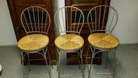 four brown wooden windsor chairs Waldorf