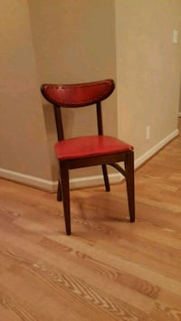 Wooden chair with vinyl seat and back  Murfreesboro