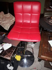 red and black leather padded rolling chair Edmonton, T5X 4K8