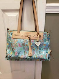 green, blue, and pink floral tote bag Northport