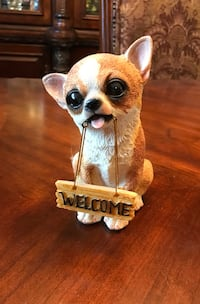 ADORABLE CHIHUAHUA DECORATIVE WELCOME FIGURINE Dover, 19904