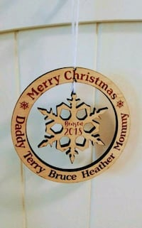 Customizable Wooden Christmas Ornament Peoria, 85382