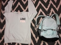 Semi used sweater and backpack sweater is siZe large I want $35 for both or $15 for sweater and $30 for backpack pickup Visalia