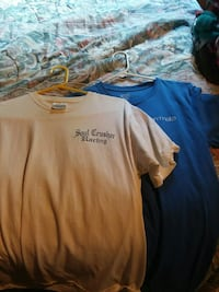 white and blue crew-neck t-shirts Parrottsville, 37843