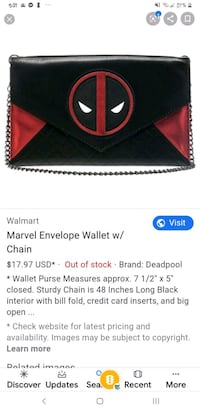 WOMENS deadpool wallet
