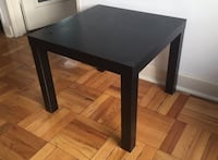 Square black wooden side table Washington, 20007