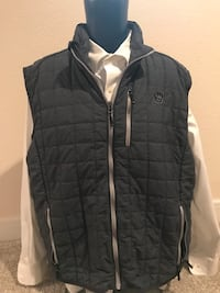 Brewers Cutter & Buck Fleece Vest, Size XL Milwaukee