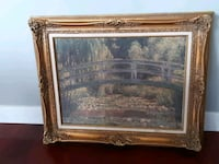 Monet print with custom frame ( waterlilly pond ) Port Moody, V3H 0C9