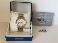 Orig $425!! Only Worn Twice!! Men's Gorgeous Sapphire Crystal Seiko Watch Bracelet Style Two Tone LE Grand Sport Watch 379 mi