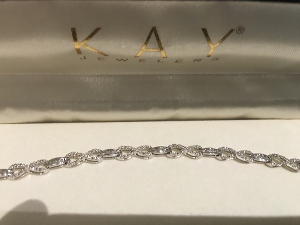 Brand New 1 Ct Tw Diamond Bracelet With 10k White Gold From Kay Jewelers Never Worn Mint Condition