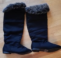 Faux Suede Knee Boots  Burnaby