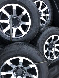"""17"""" 6 lug wheels new tires $1300 weekend only won't last"""