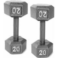 two gray fixed weight dumbbells WASHINGTON