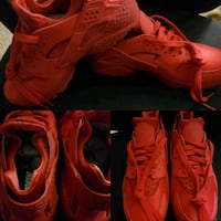 size 8 all red huaraches