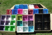 BRAND NEW STACKABLE MULTI COLOR CD CRATES SELLING CHEAP $20.00 A CASE OF 18'S!! Mississauga
