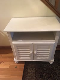 white wooden single drawer side table Antioch, 60002