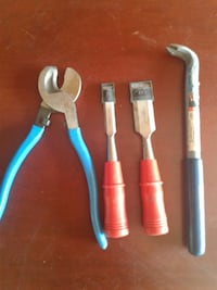 four assorted hand tools