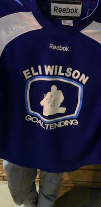 blue and white Adidas jersey shirt Edmonton, T5W 0Z8