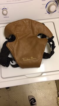Theodore Bean brown leather baby carrier Lethbridge, T1H 2K4