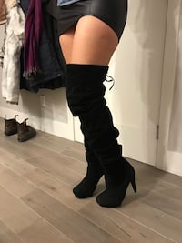 Black suede thigh high boots Vancouver, V5Z 4N3