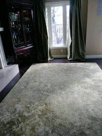 Sage green area rug and matching curtain  Vaughan, L4L 8N7