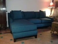 blue fabric sectional sofa with ottoman Los Angeles, 90015