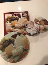 Lazy Susan for Cheese and 4 porcelain cheese plates Washington, 20012