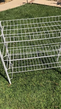 Shoe rack used good 28 1/2 inches height and 26 inches length  Riverside, 92508