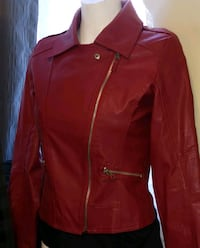 Cherry Red Motorcycle Jacket Victoria, V8T 3H8