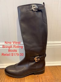Nine West Women's BringIt Riding Boots 8  Lanham
