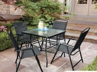 Cranston 5-Piece Folding Dining Set