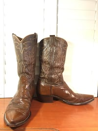 Nocona Brown Leather Boots Buda, 78610